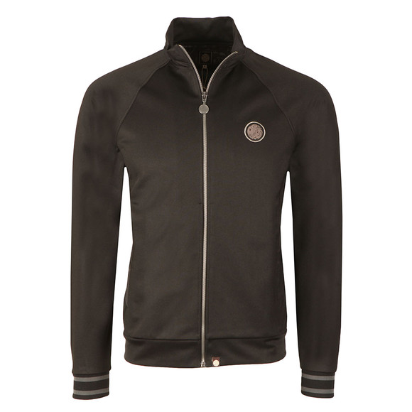 Pretty Green Mens Black Zip Through Track Top main image