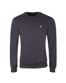 Lyle and Scott Mens Blue Crew Neck Sweatshirt