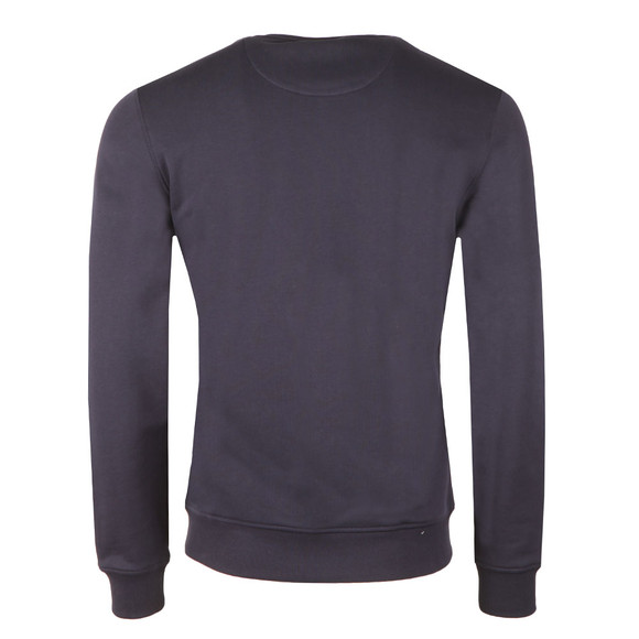 Lyle and Scott Mens Blue Crew Neck Sweatshirt main image