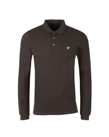 Lyle and Scott Mens Black LS Polo Shirt