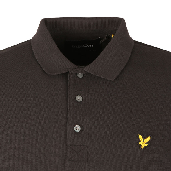 Lyle and Scott Mens Black LS Polo Shirt main image