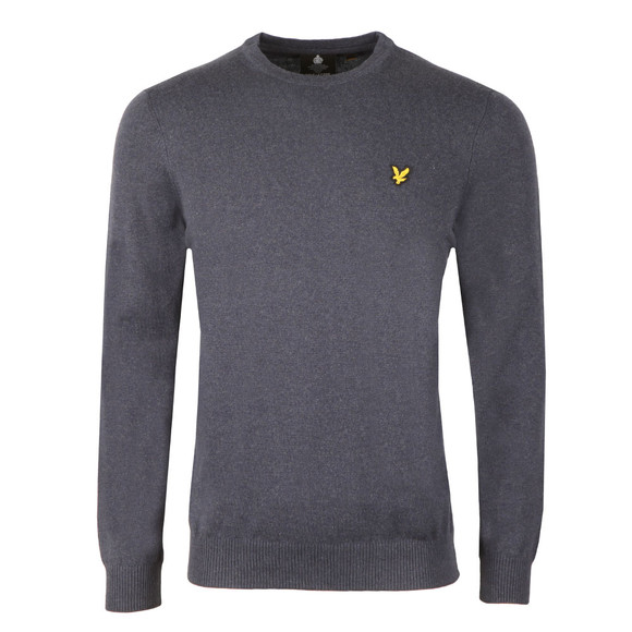 Lyle and Scott Mens Blue Crew Neck Jumper main image