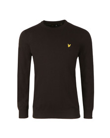 Lyle and Scott Mens Black Crew Neck Jumper