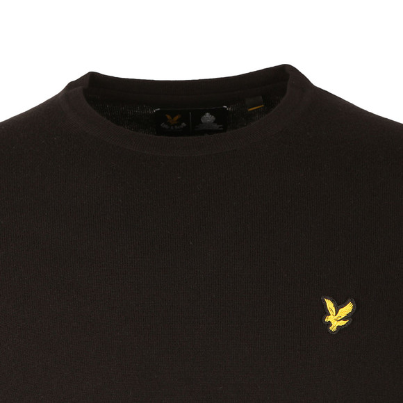 Lyle and Scott Mens Black Crew Neck Jumper main image