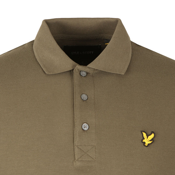 Lyle and Scott Mens Green LS Polo Shirt main image
