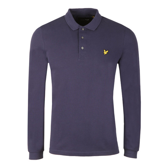 Lyle and Scott Mens Blue L/S Polo Shirt main image