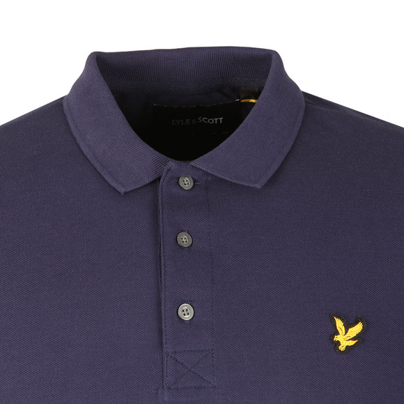 Lyle and Scott Mens Blue LS Polo Shirt main image