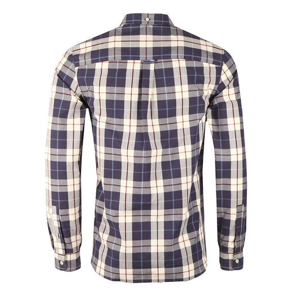 Lyle and Scott Mens Off-white Poplin Check Shirt main image