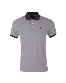 Lyle and Scott Mens Blue Feeder Stripe Polo Shirt