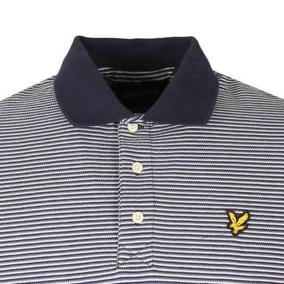 Lyle and Scott Mens Blue Feeder Stripe Polo Shirt main image