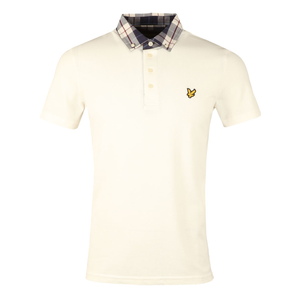 Check Woven Collar Polo Shirt main image