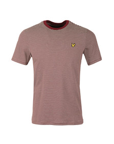 Lyle and Scott Mens Red Feeder Stripe T-Shirt