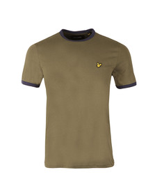 Lyle and Scott Mens Green Ringer T-Shirt