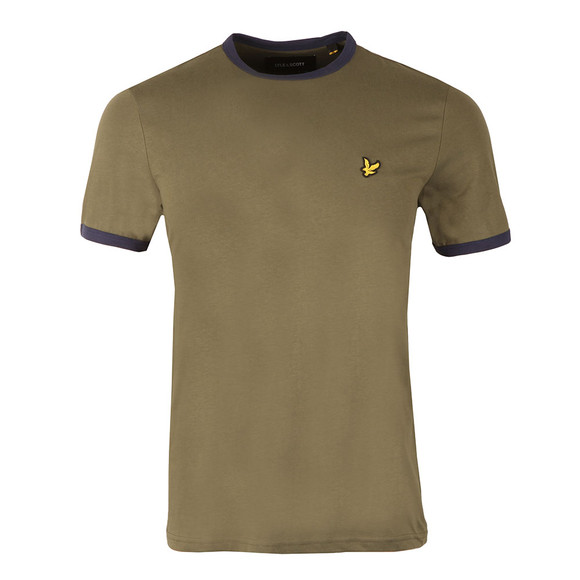 Lyle and Scott Mens Green Ringer T-Shirt main image