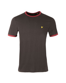 Lyle and Scott Mens Black Ringer T-Shirt