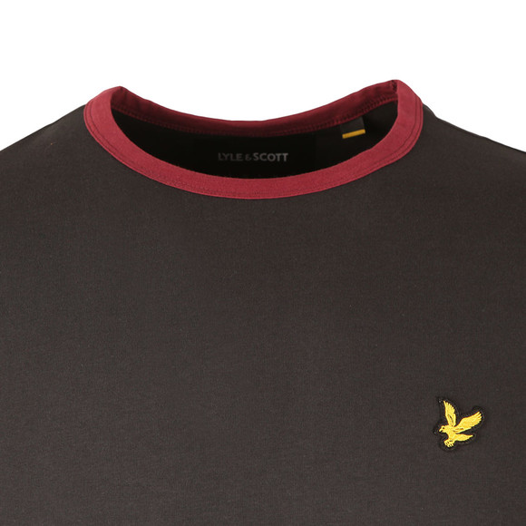 Lyle and Scott Mens Black Ringer T-Shirt main image
