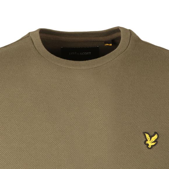 Lyle and Scott Mens Green Honeycomb T-Shirt main image