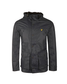 Lyle and Scott Mens Blue Micro Fleece Lined Jacket