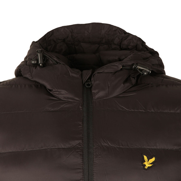 Lyle and Scott Mens Black Lightweight Puffer Jacket main image