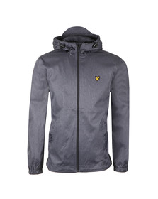 Lyle and Scott Mens Blue Zip Through Hooded Jacket