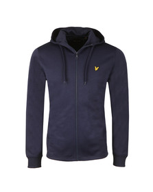 Lyle and Scott Mens Blue Hooded Tricot Jacket
