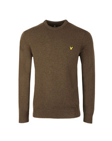 Lyle and Scott Mens Green Crew Neck Jumper