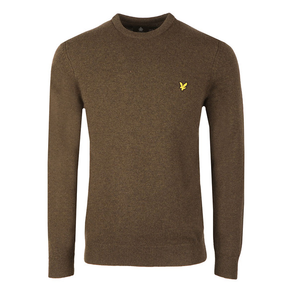 Lyle and Scott Mens Green Crew Neck Jumper main image