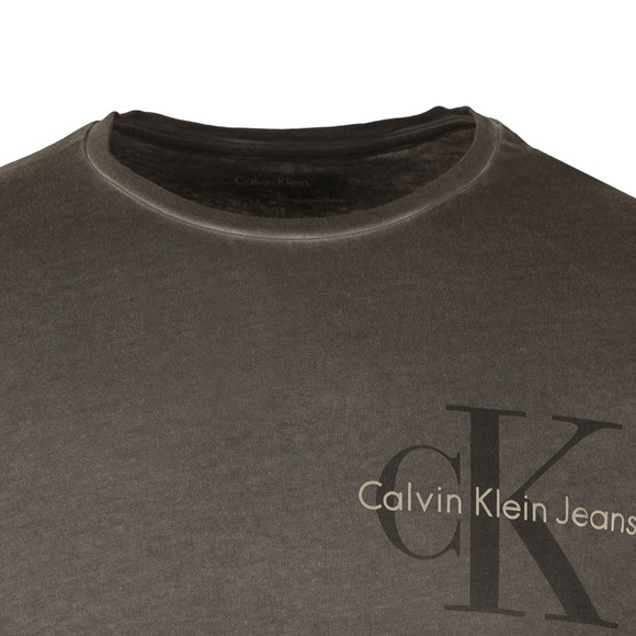 Calvin Klein Jeans Mens Black L/S Distressed T-Shirt main image