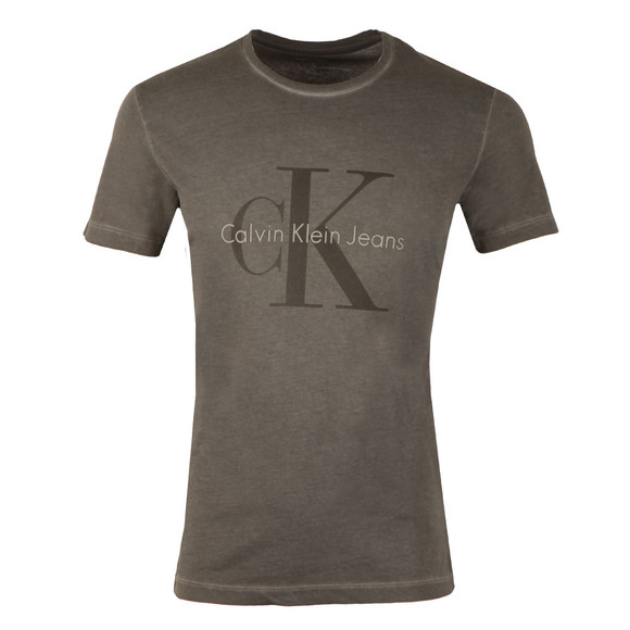 Calvin Klein Jeans Mens Black S/S Distressed T-Shirt main image