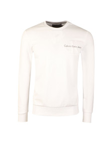 Calvin Klein Jeans Mens White L/S Haws Sweat