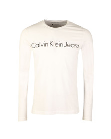 Calvin Klein Jeans Mens White L/S Treasure Tee