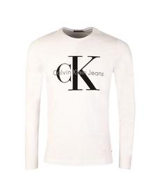 Calvin Klein Jeans Mens White L/S Tributo Tee