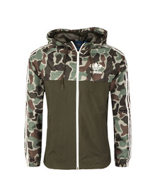 Adidas Originals Mens Grey Camo Rev Windbreaker