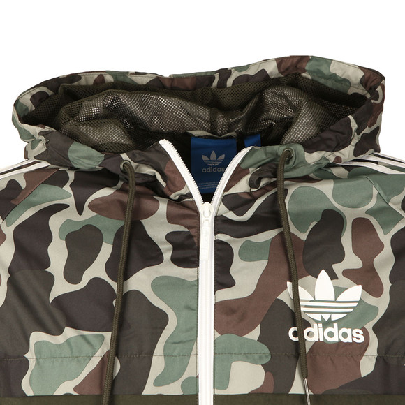 adidas Originals Mens Green Camo Rev Windbreaker main image