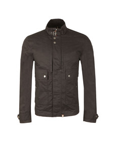 Pretty Green Mens Blue Waxed Cotton Jacket