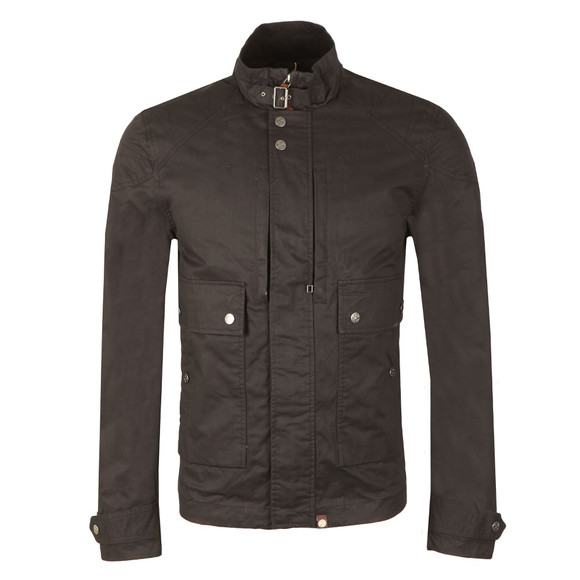 Pretty Green Mens Blue Waxed Cotton Jacket main image