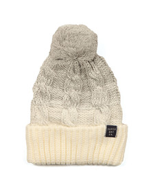 Superdry Womens Grey Clarrie Cable Beanie