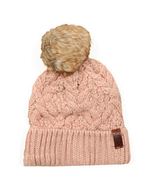 Superdry Womens Pink Nebraska Cable Beanie