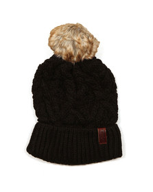 Superdry Womens Black Nebraska Cable Beanie