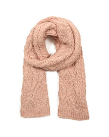 Superdry Womens Pink Nebraska Cable Scarf