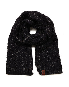 Superdry Womens Blue Nebraska Cable Scarf