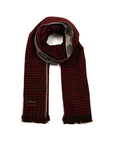 Maison Scotch Womens Red Double Sided Scarf