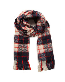 Superdry Womens Blue Super Orkney Scarf