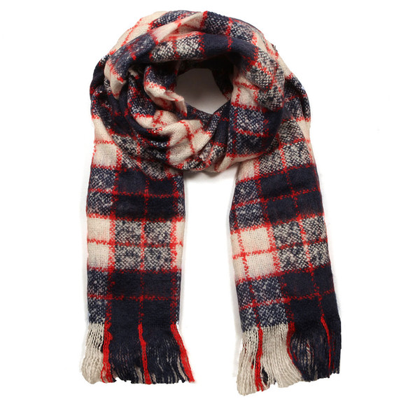 Superdry Womens Blue Super Orkney Scarf main image