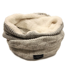 Superdry Womens Grey Clarrie Cable Snood