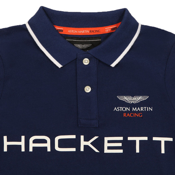Hackett Boys Blue Boys AMR HKT PN Polo Shirt main image