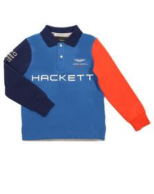Hackett Boys Blue AMR Multi LS Polo Shirt