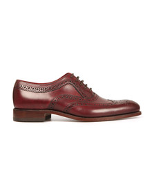 Loake Mens Red Fearnley Calf Brogue Shoe
