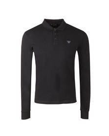 Armani Jeans Mens Blue L/S Jersey Polo Shirt