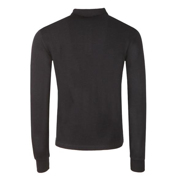 Armani Jeans Mens Blue L/S Jersey Polo Shirt main image